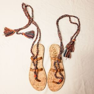 Sam & Libby Wrap Sandals